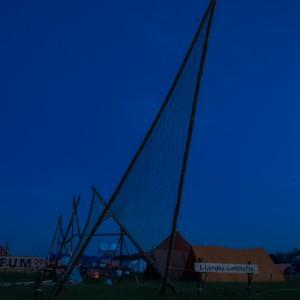 Indgangsportal i den blå time. Foto: Jens Thybo